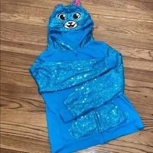 Justice sequin hoodie
